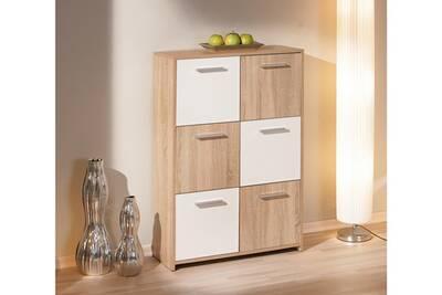 Commode Link 39 S Commode Buffet Bahut Meuble De Rangement Bureau Cuisine Salon Sejour Chene Blanc Darty