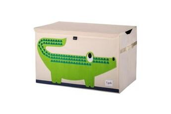 Coffre à jouets 3 Sprouts 3 sprouts-caisse de rangement crocodile