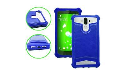 huge selection of 8723b 9054a Elephone p3000s coque arrière façon cuir bleu contours en silicone gel  anti-chocs by ph26®