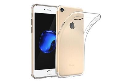 Bpfy - coque silicone transparente pour iphone 8 plus apple avec vitre de protection offerte - protection arriere anti-choc - etui en silicone tpu ...