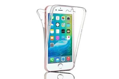 Bpfy - coque silicone integrale 360 transparente pour iphone 6 plus / 6s plus apple avec vitre de protection offerte - protection complete ...