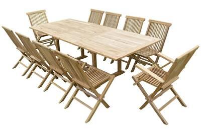Ensemble table et chaise de jardin Teck\'line Ensemble de jardin en ...