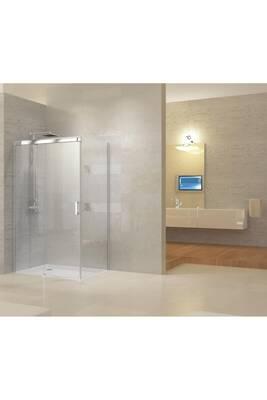 cabine de douche ally paroi de douche avec porte coulissante montage r versible rectangulaire. Black Bedroom Furniture Sets. Home Design Ideas