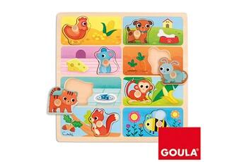 Puzzles Goula Encastrement 8 pièces en bois : mon repas préféré