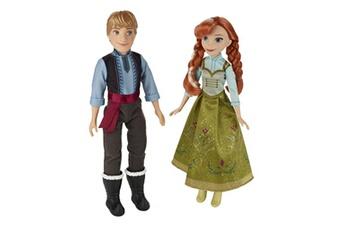 Poupées Hasbro Poup?es la reine des neiges (frozen) : coffret duo anna et kristoff