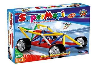 Tapis de jeu et tapis de sol Construction Toys Magnetic super maxi autocourse