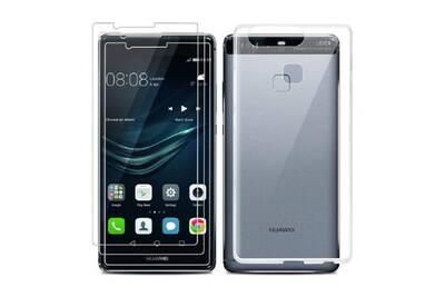 Protection écran smartphone Funcase Film verre trempe + coque silicone transparente  pour huawei p10 lite 44e503795ad8