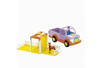 Poupées Mattel Jeep bilingue dora et son poney - mattel