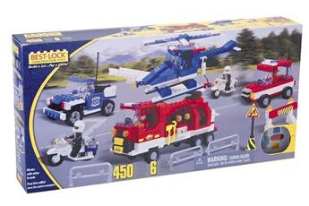 Tapis de jeu et tapis de sol BEST-LOCK Coffret pompiers et police 450 pieces