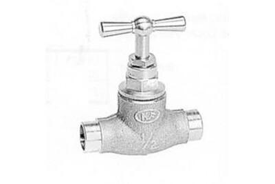 Petite plomberie Sanitaire-distribution Robinet d'arrêt à souder pour tube cuivre, grenaillé - tube ø ext. : 12