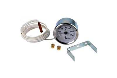 Accessoires chauffage central Diff Thermomètre rond et capillaire ø 52 - 0 à 120°c - thermomètre rond et capillaire ø 52 - 0 à 120°c
