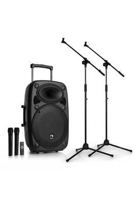 amplificateur sono auna streetstar 15 set sono portable enceinte 15 micros tr pieds darty. Black Bedroom Furniture Sets. Home Design Ideas