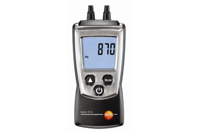 Accessoires chauffage central Testo Manomètre économique pour pression gaz et tirage cheminée - testo 510 - prix net
