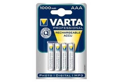 Pile rechargeable Varta Varta lot de 4 piles rechargeables accu aaa 1000mah