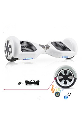 Hoverboard / Gyropode Twokool 6.5 pouces hoverboard scooter gyropode + bluetooth blanc