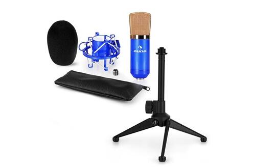 Cm00bg set v1 - micro de studio + araignée + pied de table - noir & or