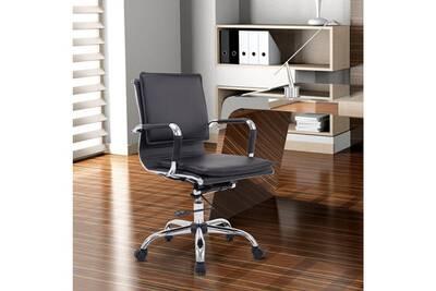 Fauteuil bureau homcom chaise de bureau pivotante ergonomique