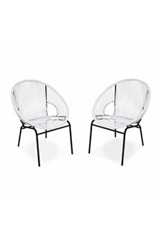 Chaise et fauteuil de jardin Alice\'s Garden   Darty