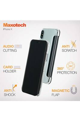 coque iphone x porte carte magnetique