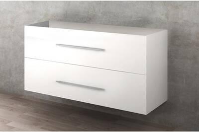 meuble salle de bain qualyx meuble sous vasque suspendu 2 tiroirs beige l 70 cm - Meuble Vasque 70 Cm