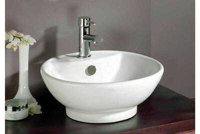 Vasque De Salle De Bain Ronde.Vasque Ronde En Ceramique Tonio
