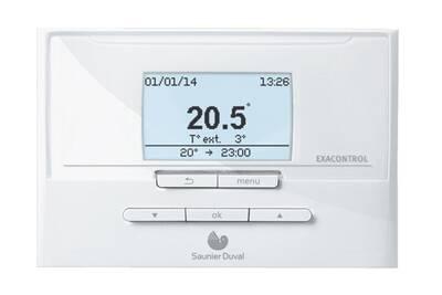 Thermostat et programmateur de chauffage Saunier Duval Thermostat programmation saunier duval exacontrol e7/c filaire à régulation