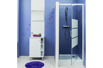 Paroi et porte de douche Paroi de douche pivotante sérigraphié 90 cm siam  Evidence be61a56a27ad