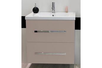 bfc7b4fb60c68c Meuble salle de bain Meuble à suspendre 60 cm novello, taupe + vasque  Evidence