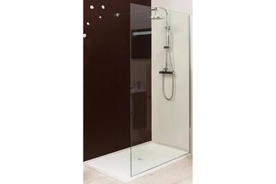paroi et porte de douche evidence paroi douche italienne transparente 120 cm rizi darty