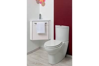 meuble salle de bain evidence meuble lave mains suspendre dangle ninon blanc