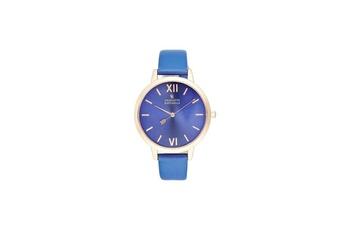 e53ee2992150e Montre femme Montre femme charlotte raffaelli mouvement quartz cadran bleu  36mm et bracelet bleu en pu