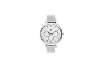 8a2ad6eacdf2d Montre femme Montre femme charlotte raffaelli mouvement quartz cadran blanc  36mm et bracelet argenté en maille
