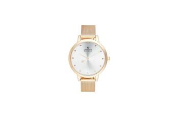 c90e6c4e28684 Montre femme Montre femme charlotte rafaelli à quartz cadran argenté 36mm  et bracelet rose doré en
