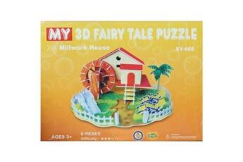 Puzzles Puzzle 3d Puzzle 3d facile à partir de 3ans ferme moulin 8 pieces