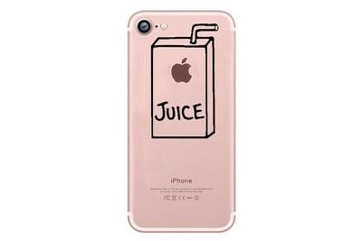 Coque silicone iphone 8 juice fun apple jus de pomme boisson transparente protection gel souple
