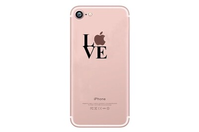 Coque silicone iphone 8 love fun apple amour pomme transparente protection gel souple