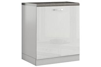 meuble de cuisine meuble bas de cuisine design 60 cm avec 1 porte coloris blanc laqu