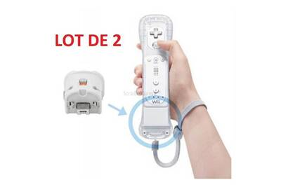 high quality new list outlet 2 x wii motion plus pour manette wiimote nintendo wii - blanc