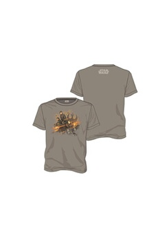 Figurines personnages Sd Toys T-shirt star wars rogue one - rebel group gris homme taille l