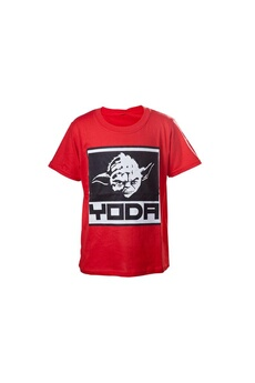 Figurines personnages Bioworld T-shirt star wars - red yoda enfant taille 6/7 ans