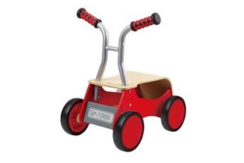 Véhicule à pédales Hape Trotteur draisienne à 4 roues rouge e0374