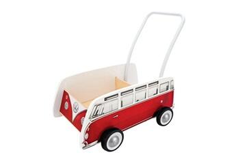 Jouets premier âge Hape Trotteur bus classique t1 rouge
