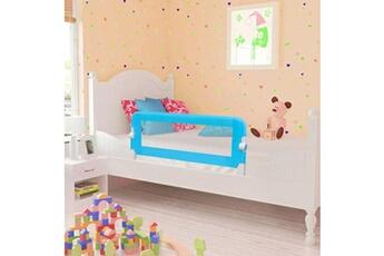 Barrière de lit Vidaxl Barrière de lit pour enfants 102 x 42 cm bleu