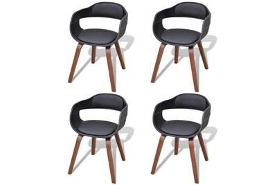 Chaise (ANCIENNE FAMILLE 2017-09-29 13 41 34.34) Vidaxl Chaise de salle à  manger 4 pcs cadre en bois cuir synthétique 0b7af1c4de3b