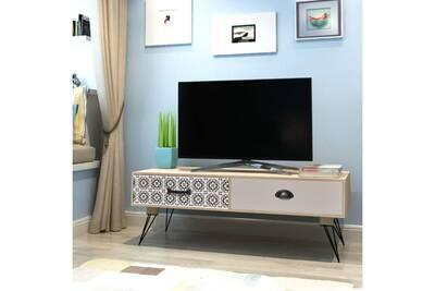 meuble tv vidaxl table auxiliaire tv 100 x 40 x 35 cm marron