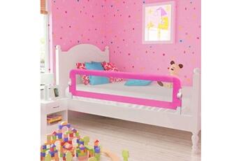 Barrière de lit Vidaxl Barrière de lit pour enfants 150 x 42 cm rose