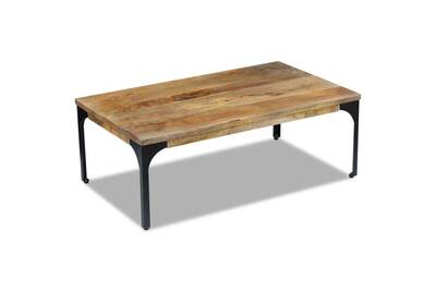 Table Basse Vidaxl Table Basse Bois De Manguier 100 X 60 X 35 Cm