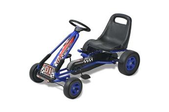 Véhicule à pédales GENERIQUE Jeux de conduite famille port-au-prince kart à pédale avec siège ajustable bleu