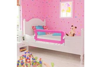 Barrière de lit Vidaxl Barrière de lit pour enfants 102 x 42 cm rose