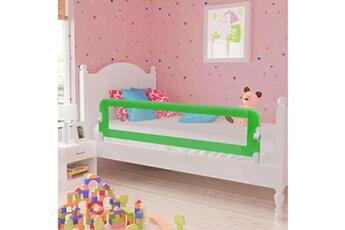 Barrière de lit Vidaxl Barrière de lit pour enfants 150 x 42 cm vert